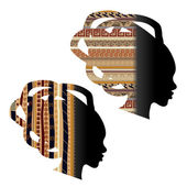 Silhouette of the head of an African woman — Stock Vector