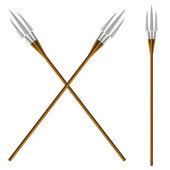 Crossed fantastic forks — Stock Vector