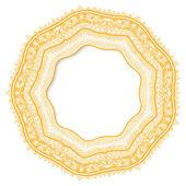 Geometric decorative rosette in the Mexican style. Vector illust — Vettoriale Stock