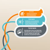 Kleur elementen van infographics. vectorillustratie — Stockvector