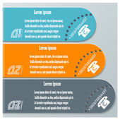 Colored banners  for infographics. Template for your design. vec — Vetorial Stock