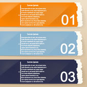 Colored banners as torn paper for infographics. Template for you — Vetorial Stock