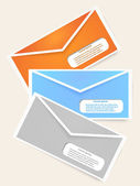 Abstract Elements of infographics with envelopes. Vector illustr — Stock Vector