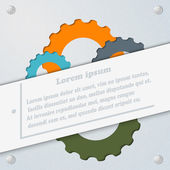 Abstract gray background with the gears. Template for infographi — Vetorial Stock