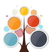 Abstract growth tree concept for communication, business, and we — Vetorial Stock