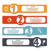 Color elements of infographics with symbols magnifying glass, cl — Vetorial Stock