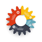 Infographics repair machines. Abstract gear icons. The element o — Stockvector