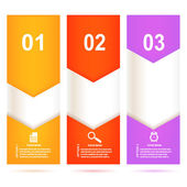 Set of bright banners on white background with template instruct — Stock Vector
