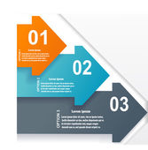 Infographic set with arrows — Vettoriale Stock