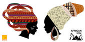 Heads of an African womens — Wektor stockowy
