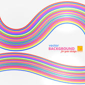 Bright abstract background with geometric wire frame. Vector ill — Stock Vector