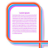 Frame of rainbow cables on a white background. Vector illustrati — 图库矢量图片