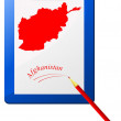 Vector illustration of the clipboard with a map of Afghanistan — Stok Vektör #8086637