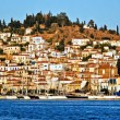 Poros Island, panoramic view - Stock Photo
