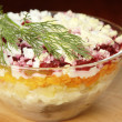 Russian traditional herring salad — Stock Photo #46290313