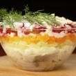 Russian traditional herring salad — Stock Photo #46290409
