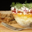 Russian traditional herring salad — Stock Photo #46397905