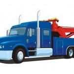 Vector isolated heavy wrecker, tow truck — Stock Vector #30102279