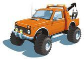 Camión de auxilio — Vector de stock