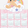 Royalty-Free Stock Vector Image: Cute monthly baby calendar for 2013