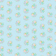 Stock vektor: Cute seamless background with flowers