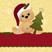 Joli modèle de carte postale de Noël — Vecteur
