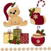 Cute christmas postcard template — Stock Vector