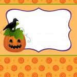 Blank template for Halloween pumpkin postcard — Stock Vector #13298506