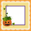 Blank template for Halloween postcard — Stock Vector