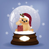 Cute christmas postcard template — Vettoriale Stock