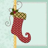 Roztomilý vánoční novoroční pohlednice šablona — Stock vektor