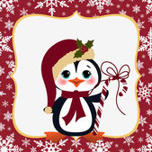 Cute christmas new Year postcard template — 图库矢量图片