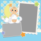 Cute template for baby's card — Stock Vector