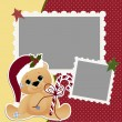Cute christmas frame template — Stock Vector #14364427