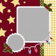 Cute christmas frame template — Stock Vector #14364435