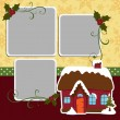 Cute christmas frame template — Stock Vector #14364505