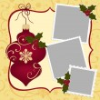 Cute christmas frame template — Stock Vector