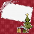 Royalty-Free Stock Vector Image: Cute christmas postcard template