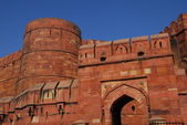 Agra Fort in India made of red sandstone and marble — Stock Photo