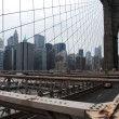 Brooklyn Bridge and Manhattan Skyline in New York.United States of America - Stock Photo