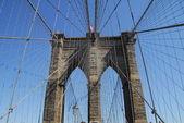 Brooklyn Bridge a landmark suspension bridge in Manhattan New York USA — Stock Photo