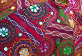 Colorful fabric handicraft — Stock Photo