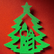 Christmas paper background texture, papercraft theme — ストック写真