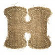 Letter clipped from linen fabric — Stock Photo