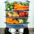 Healthy food in steam cooker - Foto de Stock