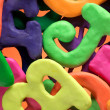 Plasticine characters — Stock Photo