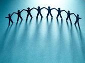 Grupp hålla händer. lagarbete koncept — Stockfoto
