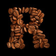 Coffee alphabet letter - Stok fotoraf