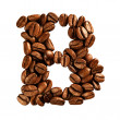 Coffee alphabet letter — Stockfoto