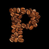 Coffee alphabet letter — Stock Photo